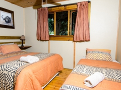 Leopard chalet bedroom